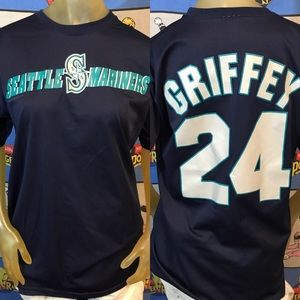 Vintage MLB Seattle Mariners Griffey Jr Jersey #24